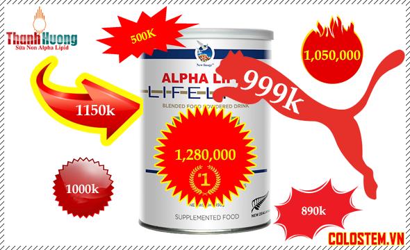 Sữa non alpha lipid nhiều giá