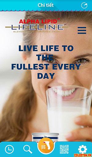 Kiểm tra mã qr sữa non alpha lipid