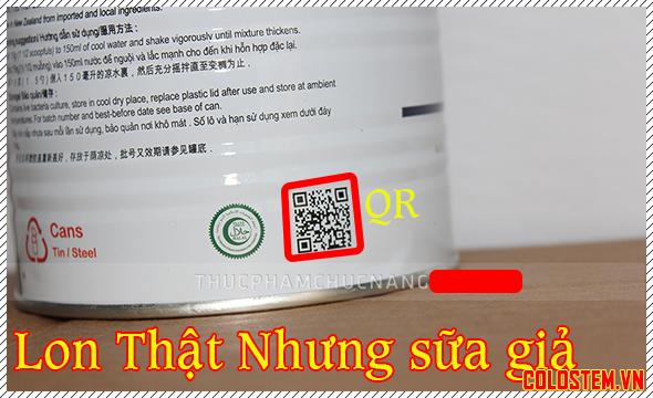 Mã QR sữa non alpha lipid