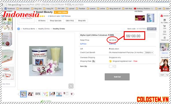 giá sữa non alpha lipid indonesia