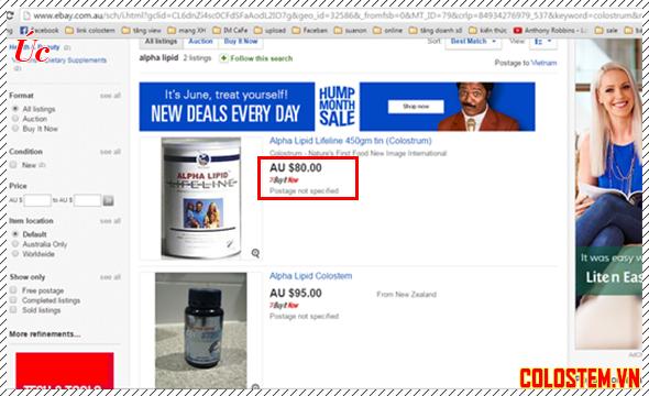 giá sữa non alpha lipid úc