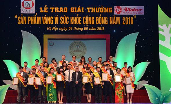 sản phẩm vàng vì sức khỏe cộng đồng năm 2016