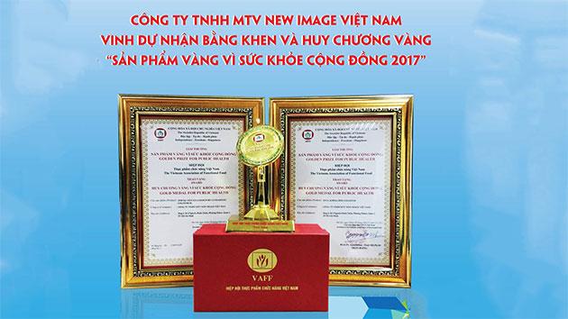 Huy chương vàng sản phẩm vàng vì sức khỏe cộng đồng năm 2017