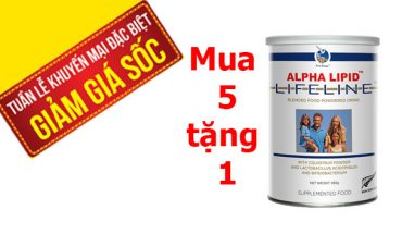 Sữa non alpha lipid mua 5 tặng 1