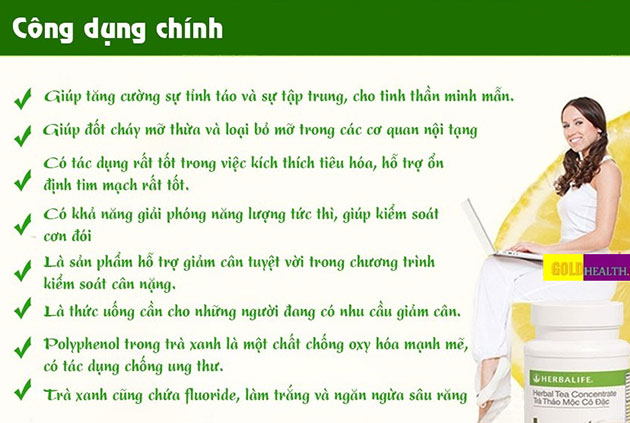Công dụng herbalife tea concentrate