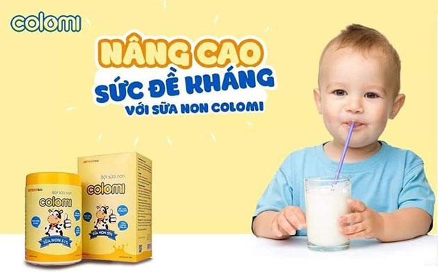 Kết quả hình ảnh cho sữa non colomi